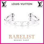 ルイヴィトン LOUIS VUITTON ブレスレット バングル カフ アクセサリー シルバー モノグラム LV ロゴ