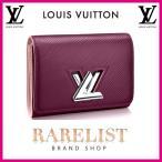 ショッピングVUITTON ルイヴィトン LOUIS VUITTON 財布 小財布 2つ折り 二つ折り フラップ かぶせ 新作 プルーヌ パープル シルバー ツイスト エピ レザー 本革 LVロゴ