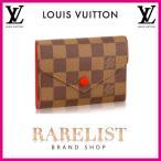 ショッピングVUITTON ルイヴィトン LOUIS VUITTON 財布 小財布 3つ折り 三つ折り かぶせ 新作 ダミエ エベヌ レッド ブラウン ゴールド コンパクト レザー