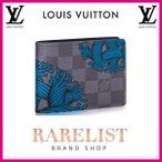 ショッピングVUITTON ルイヴィトン LOUIS VUITTON 財布 小財布 2つ折り 二つ折り 新作 ダミエグラフィット ブラック グレー ブルー コンパクト LV スレンダー ロープパターン