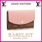 ショッピングVUITTON ルイヴィトン LOUIS VUITTON 財布 中財布 2つ折り 二つ折り 新作 ダミエ ローズバレリーヌ ブラウン ピンク ゴールド レザー 本革