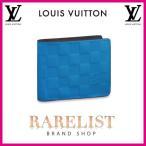 ショッピングVUITTON ルイヴィトン LOUIS VUITTON 財布 小財布 2つ折り 二つ折り 新作 ネオン ブルー ダミエアンフィニ ダミエ LV レザー 本革