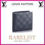 ショッピングVUITTON ルイヴィトン LOUIS VUITTON 財布 小財布 2つ折り 二つ折り 新作 ダミエアンフィニ アストラル ネイビー ブルー シルバー レザー マルコNM アンフィニ