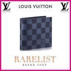 ショッピングVUITTON ルイヴィトン LOUIS VUITTON 財布 小財布 2つ折り 二つ折り 新作 ダミエコバルト ブラック ネイビー ブルー シルバー レザー 本革 コバルト
