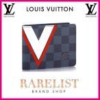 ショッピングVUITTON ルイヴィトン LOUIS VUITTON 財布 小財布 2つ折り 二つ折り 新作 ダミエコバルト ブラック ネイビー ブルー ホワイト レッド コンパクト LV アメリカズカップ