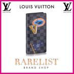 ショッピングVUITTON ルイヴィトン LOUIS VUITTON 財布 長財布 2つ折り 二つ折り 新作 限定 ダミエグラフィット ブラック グレー プリント シルバー LVリーグ レザー