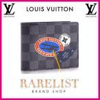 ショッピングVUITTON ルイヴィトン LOUIS VUITTON 財布 小財布 2つ折り 二つ折り 新作 限定 ダミエグラフィット ブラック グレー プリント LVリーグ ダミエ ロゴ