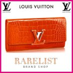 �륤�����ȥ� LOUIS VUITTON ���� Ĺ���� �ե�å� ���֤������� ���� ���󥸥���� ����С� ���ꥲ������ �쥶�� �̣֥����ͥ��㡼 ���ץ�����
