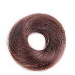 FEIYI WIGSウィッグ シュシュ お団子 つけ毛 100%人毛 エクステ レディース ポイントウィッグ 部分ウィッグ シニヨン 髪飾り