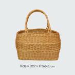 ラタンバスケット 買い物かご 大きめ 籐かご かごバッグ収納