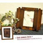 扉付き フォトフレーム 写真立て 壁掛け L判 木製 プレゼント シンプル カフェ おしゃれ かわいい アンティーク フォトスタンド 卓上用