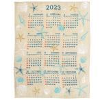 Yahoo!Rattle Wood Yahoo!店カレンダー 2019年 壁掛け ジュート シンプル インテリア 家族 北欧 ポスター アート おしゃれ  31年度暦 かわいい 貝殻 シェル ハワイ
