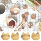 まめざらフェイスねこ豆皿小皿7cmお通し皿木製木食器カフェナチュラルエスニックアジアン食器漬物皿おしゃれキッチン雑貨