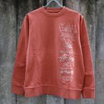 ショッピングstussy ステューシー 1ST アニュアル アップリケ クルーネック スウェットシャツ バーント オレンジ