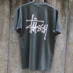 ショッピングstussy ステューシー ベーシック ステューシー ピグメント ダイド Tシャツ ブラック
