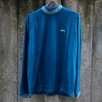 ステューシー スパイラル カラー クルー ロングスリーブ Tシャツ ブルー