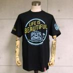 Farmers Market Hawaii/ファーマーズマーケット 半袖Tシャツ Life Is Beautiful Tee (ブラック)