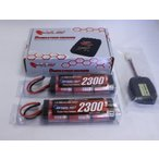 ショッピングラジコン オリジナル/EPS-E/電動ラジコン用スタートパックE(2本同時AC充電器+2300バッテリー2本+放電器)