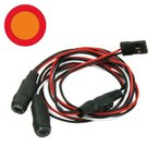 【ネコポス対応】イーグル(EAGLE)/LED-05-OR-RE/5mmイカリングLEDライト・タイプ1[中オレンジ,外レッド]4.8~6V対応