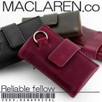 ショッピングマクラーレン マクラーレン MACLAREN.co 多機能キーケース 牛革製 札入れ 小銭入れ 財布 MC-0604 RD