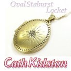 Cath Kidstonキャスキッドソン OVAL STABURST LOCKET ペンダント CK183 TNCK
