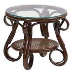 ショッピングラタン ラタン ガラステーブル 籐家具 テーブル コーヒーテーブル サイドテーブル ナイトテーブル ソファサイド ベッドサイド 籐 ガラス 代引不可