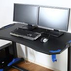 ゲーミングデスク GAMING DESK XeNO ゼノ イージー01 W1200×D650×H730mm PVCシート MDF 鉄 おしゃれ ブルー 代引不可
