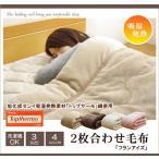 旭化成センイ トップサーモ使用 2枚合わせ 毛布 洗える 『フランアイズSD IT』 ベージュ 約160×200cm セミダブル 代引不可