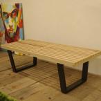 ジョージ・ネルソン プラットフォームベンチ テーブル、ベンチ両方で使える ネルソンベンチ テーブル ベンチ 北欧家具 代引不可