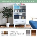 ラック 棚 6BOXシリーズ 引出し付ガラスキャビネット(fr-050) セール SALE