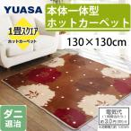 YUASA ユアサプライムス ホットカーペット 本体一体型 1畳相当 130×130cm スクエアタイプ YSC-S130S-FS