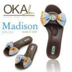 ショッピングオカビー OKA b. オカビー Madison マディソン Hotchoco Madras ホットチョコ・マドラス取外し可能なリボンとポップなカラーがポイント