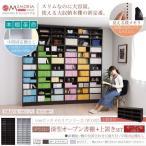 ショッピング本棚 本棚 ラック シェルフ 1cmピッチ 大量収納 MEMORIA 棚板が1cmピッチで可動する 深型オープン幅120.5 上置きセット FRM-0108SET 代引不可