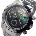 エルジン ELGIN クロノ クオーツ メンズ 腕時計 FK1406S-B ブラックシェル