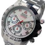 エルジン ELGIN クロノ クオーツ メンズ 腕時計 FK1406S-W ホワイトシェル