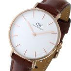 ダニエル ウェリントン クラシック ペティート セイント モーズ ホワイト レディース 32mm 腕時計 DW00100175
