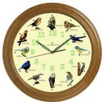 ショッピング壁掛け 野鳥の壁掛け電波時計 ho-83663 代引不可