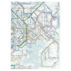 東京カート 鉄道路線図クリアファイル 首都圏 英語 RFSE