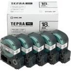 (業務用5セット) キングジム テプラ PROテープ/ラベルライター用テープ 〔幅: 18mm〕 5個入り ST18K-5P 透明 〔×5セット〕