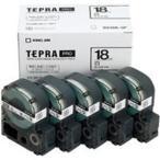 (業務用5セット) キングジム テプラ PROテープ/ラベルライター用テープ 〔幅:18mm〕 5個入り SS18K-5P ホワイト(白) 〔×5セット〕