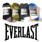 クォーターソックス 3Pセット EVERLAST エバーラスト メンズ ミドルソックス 靴下3足セット
