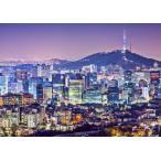 絵画風 壁紙ポスター  ソウル特別市の夜景 カンナム 韓国 キャラクロ KSOL-001A2 (A2版 594mm×420mm)