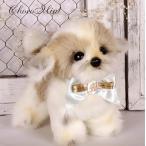 ショッピング日本製 日本製シーズー犬(四足立ち)ぬいぐるみ&オーダーお名前首飾り