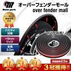 オーバーフェンダー 汎用 車 モール 全長約3.0m 車検 ハミタイ 対策 フェンダーモール + 9mm