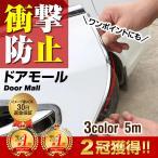 ドアモール 車 メッキ モール ドアガード ドアエッジモール ドア傷防止 開閉時の保護に 5m 3カラー ドレスアップ