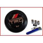 TRD ステアリング (ハンドル)ホーン ボタン 45131-SP001 MOMOタイプ用+アルミ エアーバルブ キャップ 4個 セット(AM110)+Miniタイヤゲージセット
