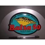 SAURUS/ザウルス!Balsa50/バルサ50・アルファクラフト/楕円ステッカー(グリーン)