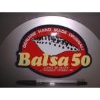 SAURUS/ザウルス!Balsa50/バルサ50・アルファクラフト/楕円ステッカー(赤)