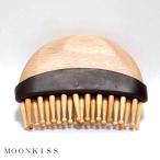 QZ竹ピンブラシ MOONKISS※頭皮マッサージや育毛・養毛のツボ押しにも