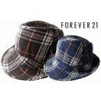 FOREVER 21/フォーエバー21/ハット/レディース/Plaid Hat/中折れ コットン/帽子/チェック柄
